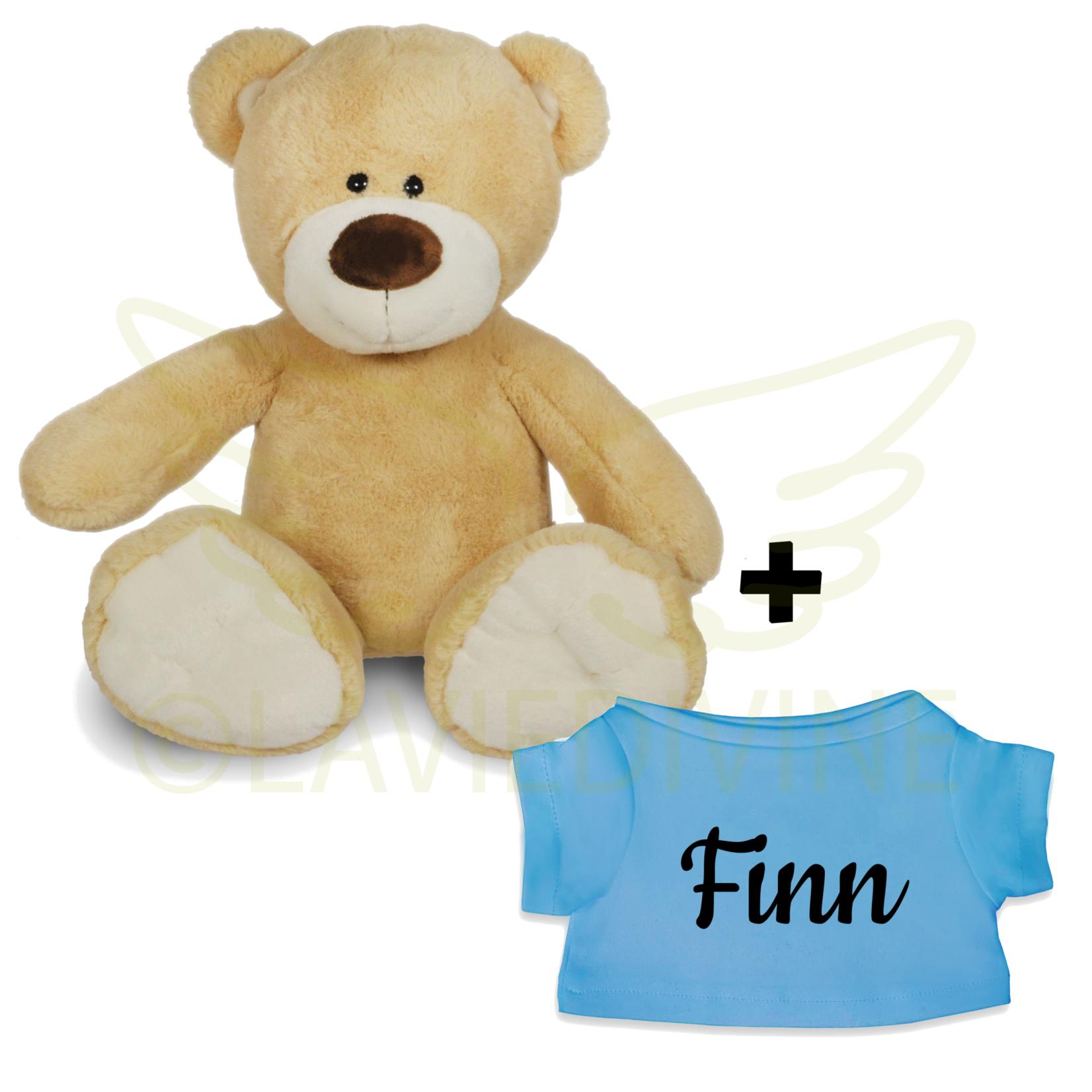 Funnies Knuffelbeer met gepersonaliseerd t-shirtje