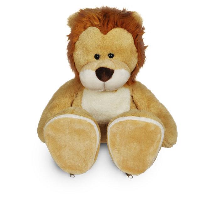 Knuffel leeuw met personaliseerbare voetjes
