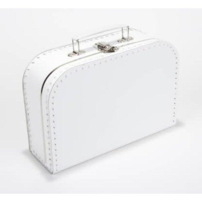 Kinderkoffertje 30cm wit