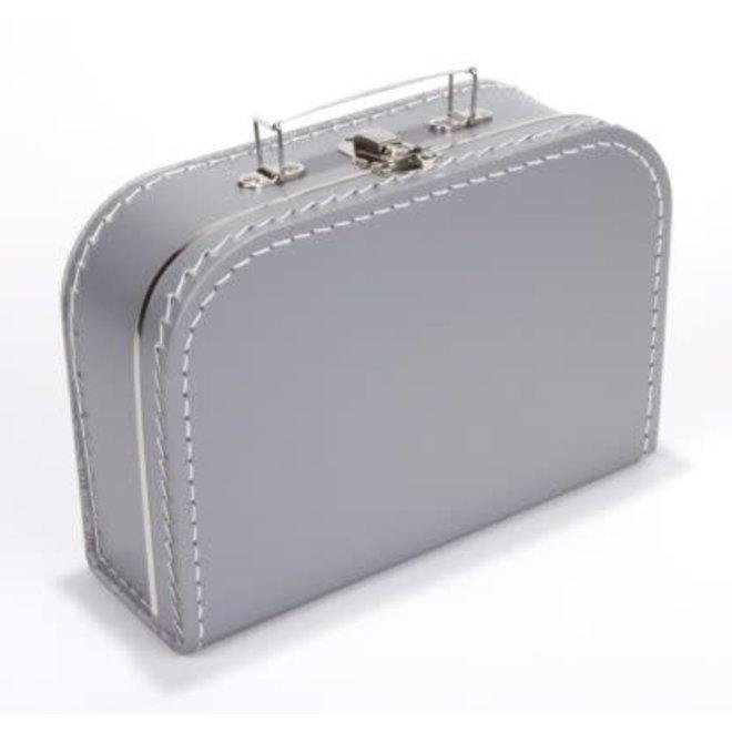 Kinderkoffertje 30cm zilvergrijs
