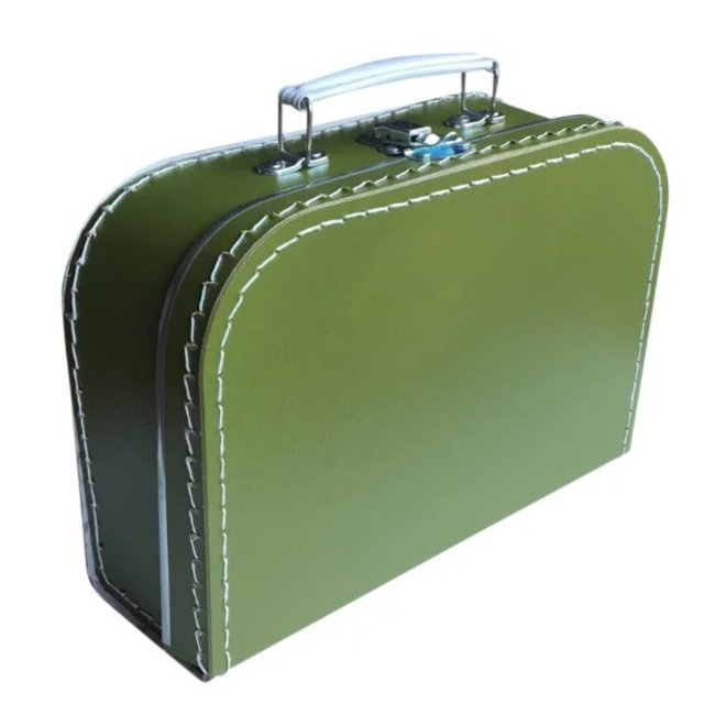 Kinderkoffertje 25cm Olijfgroen