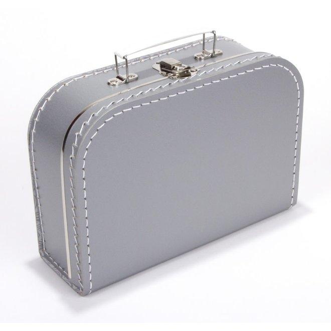 Kinderkoffertje 25cm zilvergrijs