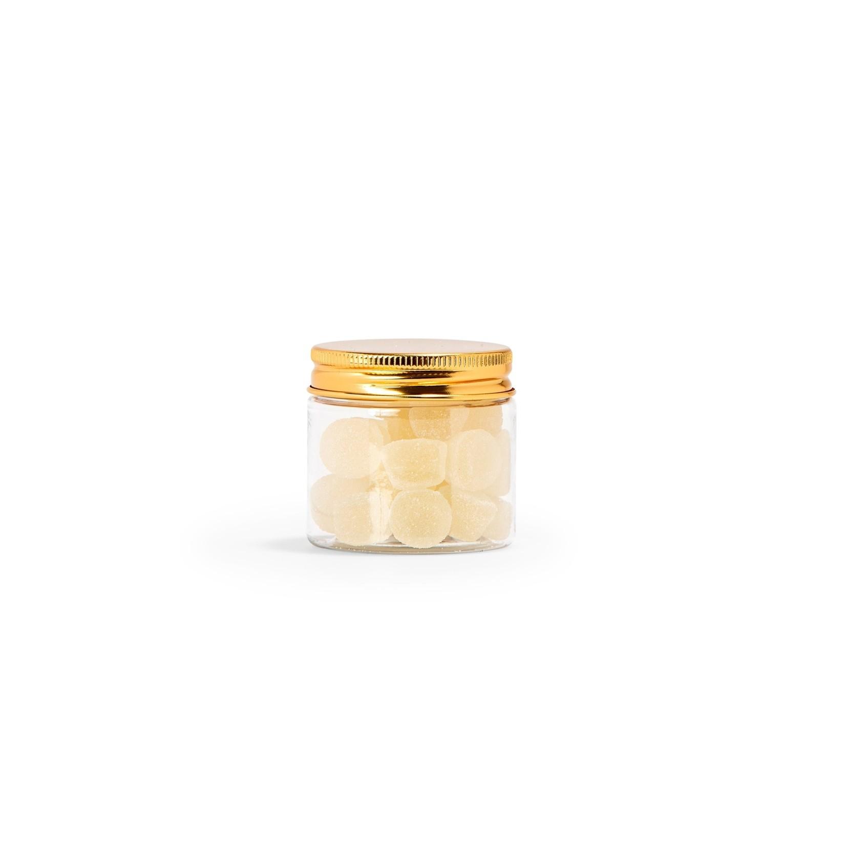 BB collections PET potje met schroefdeksel goud 4.7cm x dia 5cm