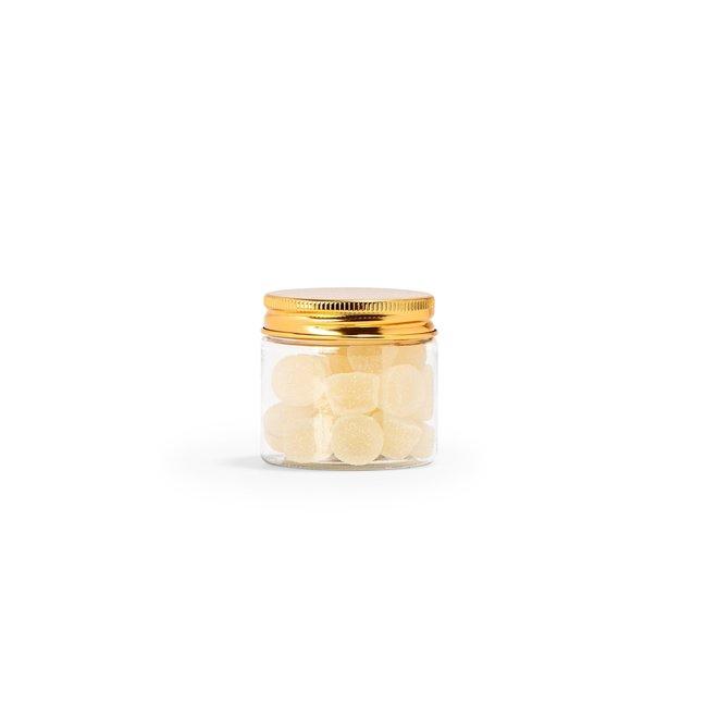 PET potje met schroefdeksel goud 4.7cm x dia 5cm
