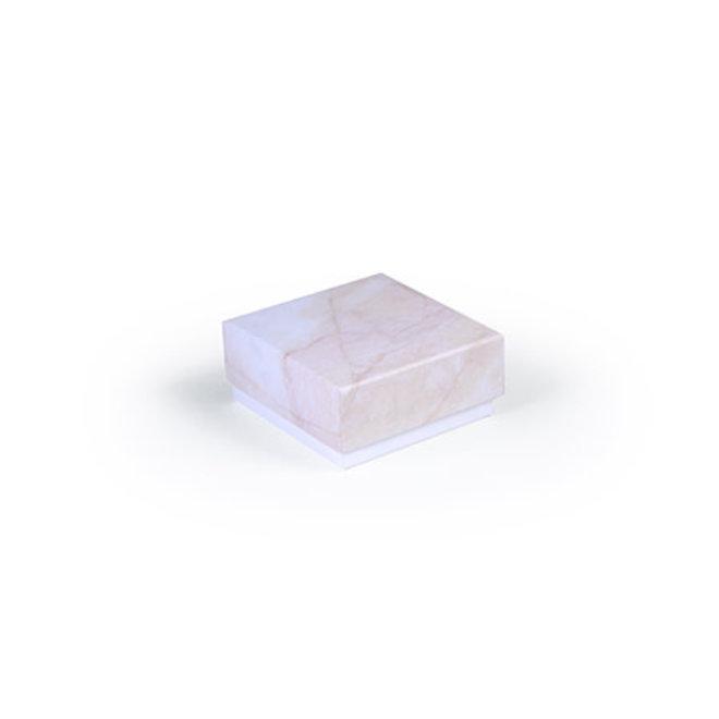Luxe box marmer 6.5x6.5x3cm roze