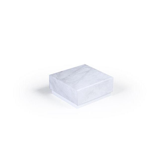 Luxe box marmer 6.5x6.5x3cm grijs