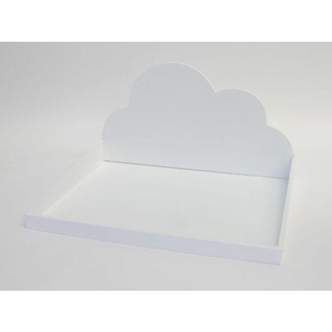 Dienblad met wolk 26x40x31cm wit