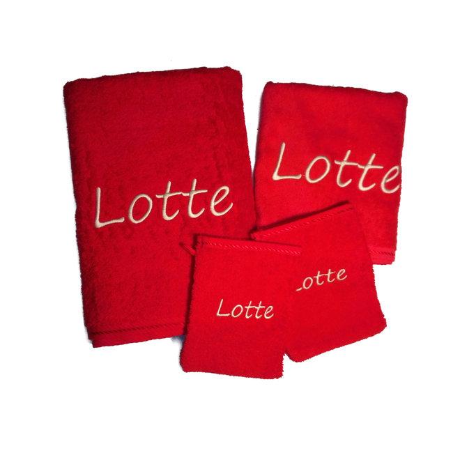 Standaard handdoekenset met naam