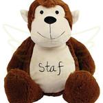 Mumbles Knuffel aap met naam op de buik