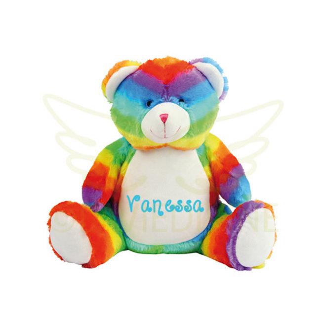 Regenboog beer met naam