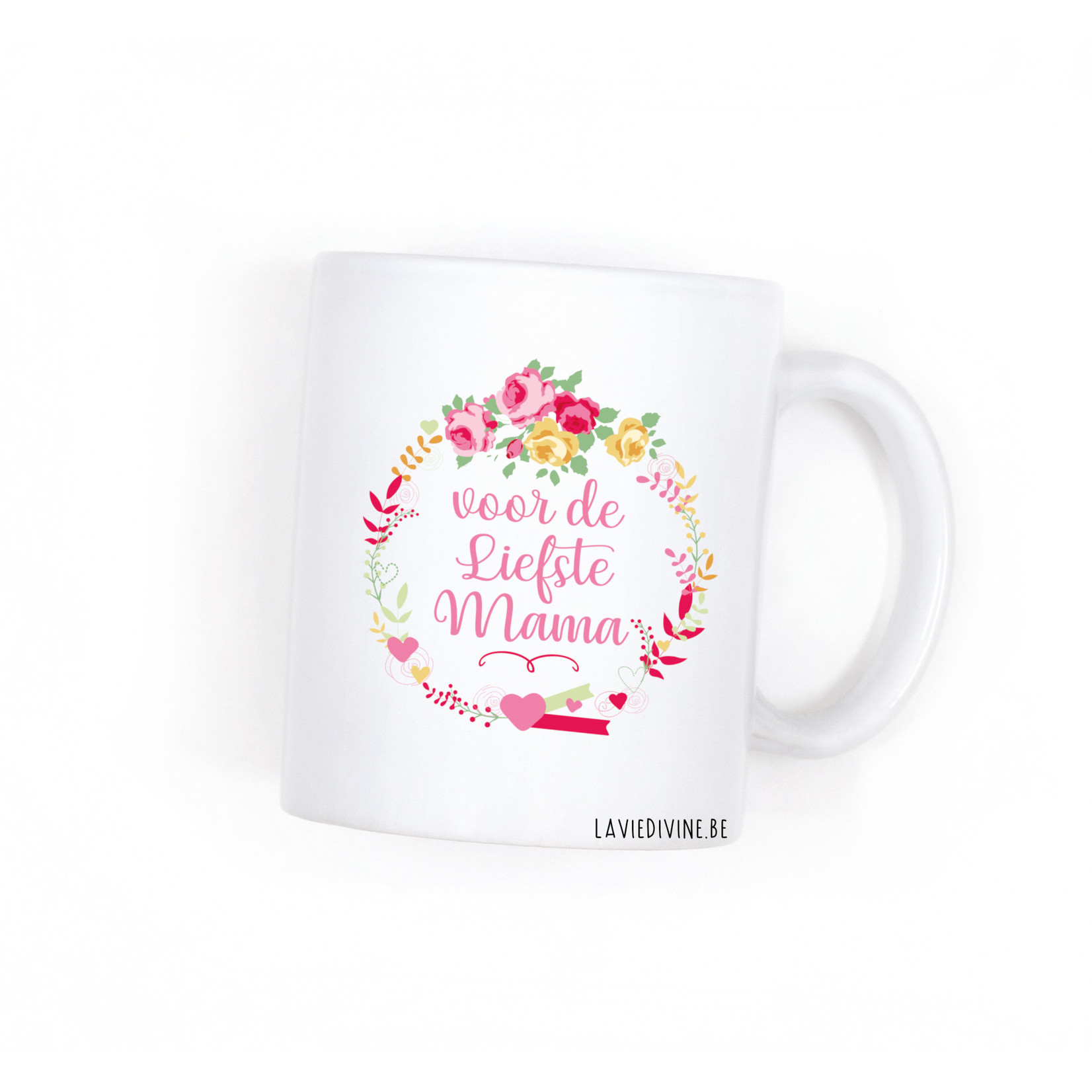 La Vie Divine Koffiemok Voor de liefste mama