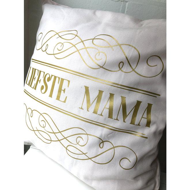 Kussen Liefste Mama lichtroze