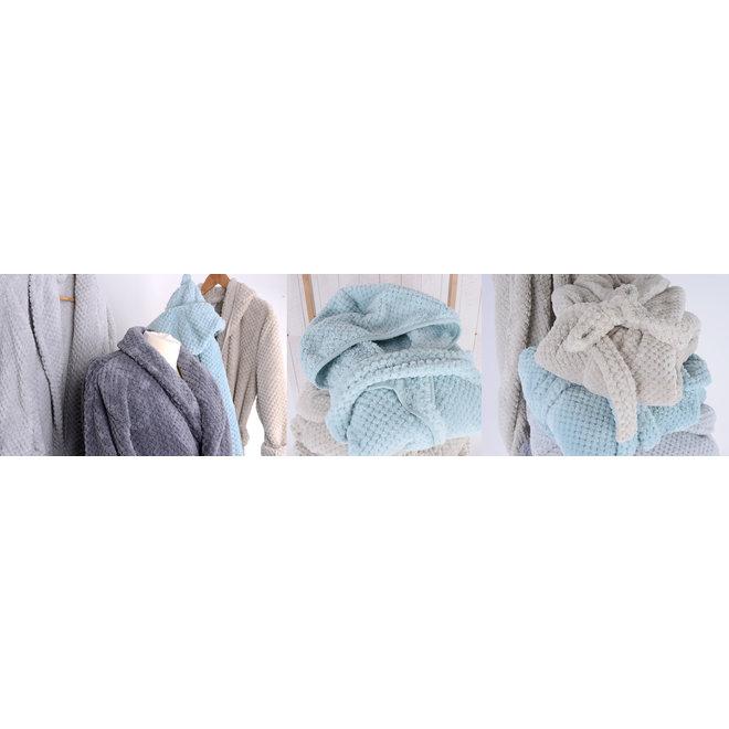 Unisex Fleece Badjas met sjaalkraag Jules Clarysse