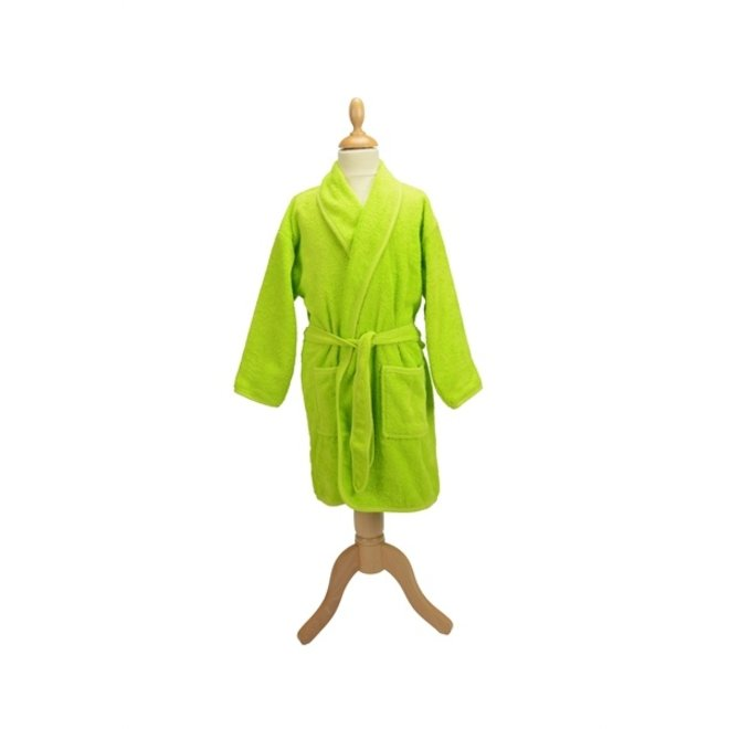 Kinderbadjas met sjaalkraag