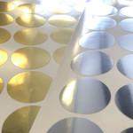 Metallic achtergrondsticker rond 42mm - per 50