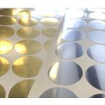 Metallic achtergrondsticker rond 22mm - per 50