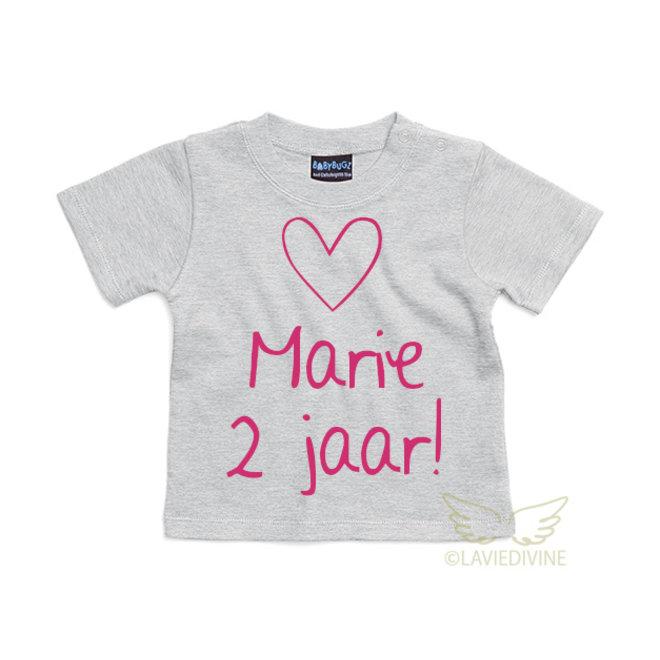 Baby T-shirt bedrukt (ecologisch katoen)
