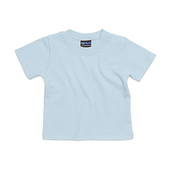 Baby t-shirt pastelblauw