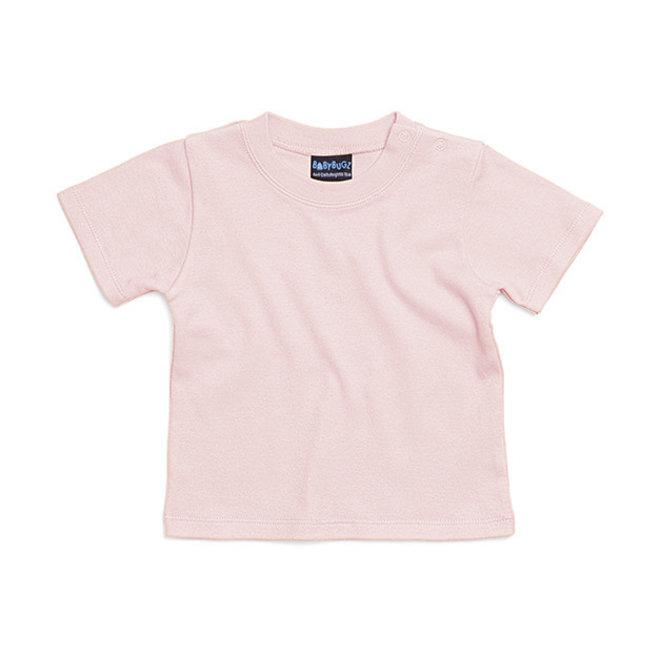 Baby t-shirt poederroze