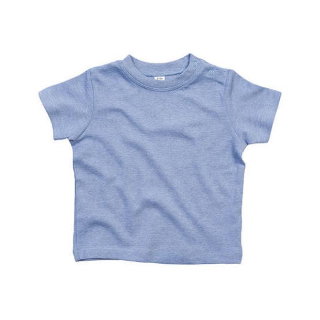 Baby t-shirt blauw gespikkeld
