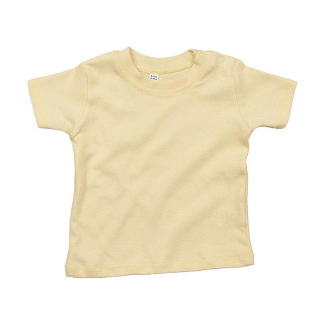 Baby t-shirt pastel geel