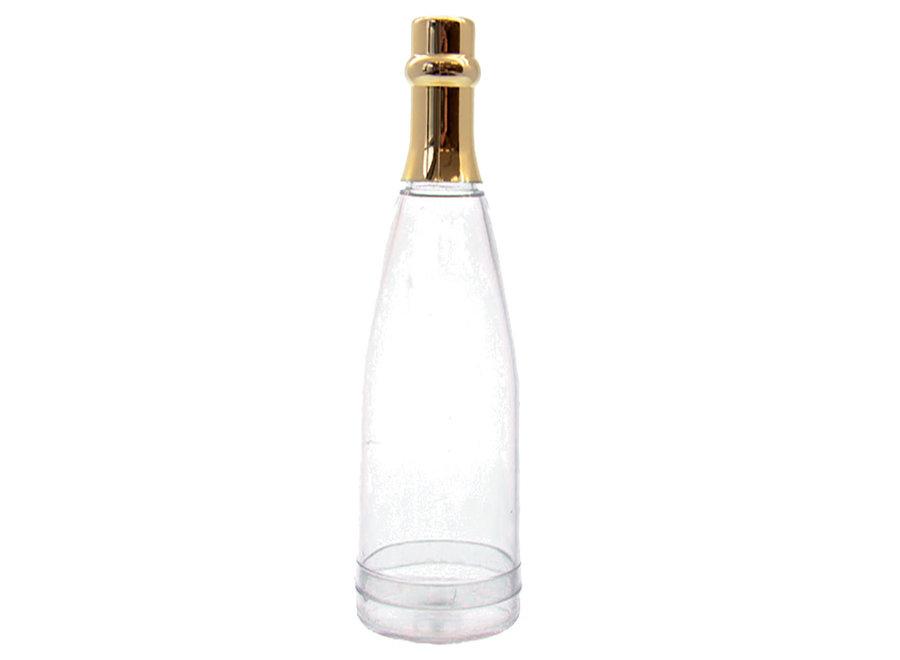 Mini champagneflesje gouden dop