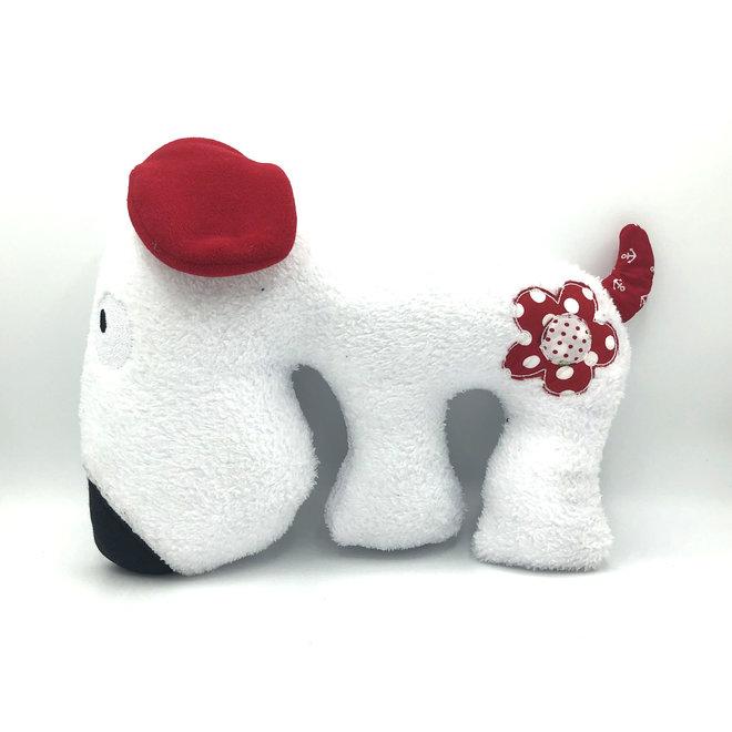 Knuffel hond handgemaakt
