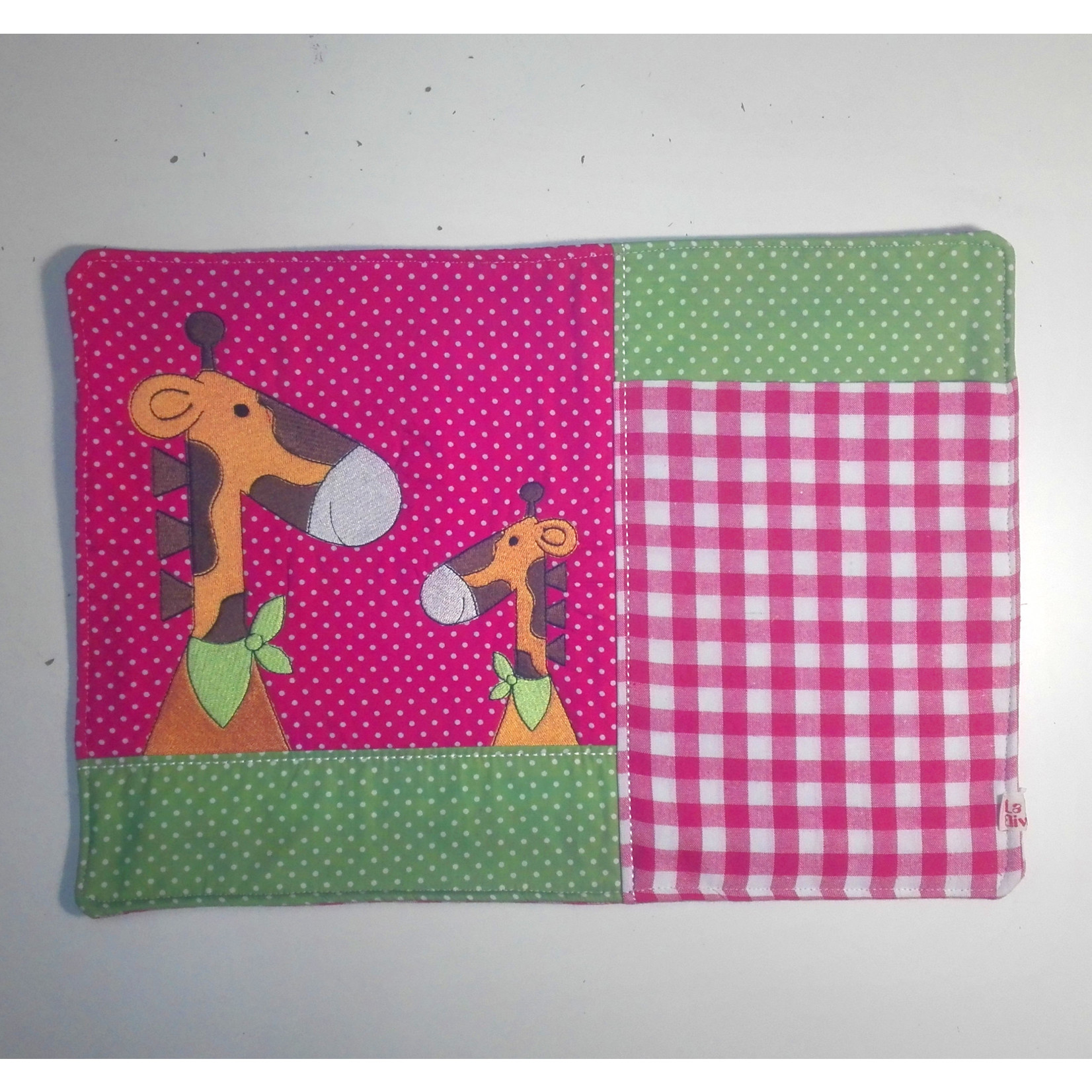 Kinderplacemat fuchsia/groen