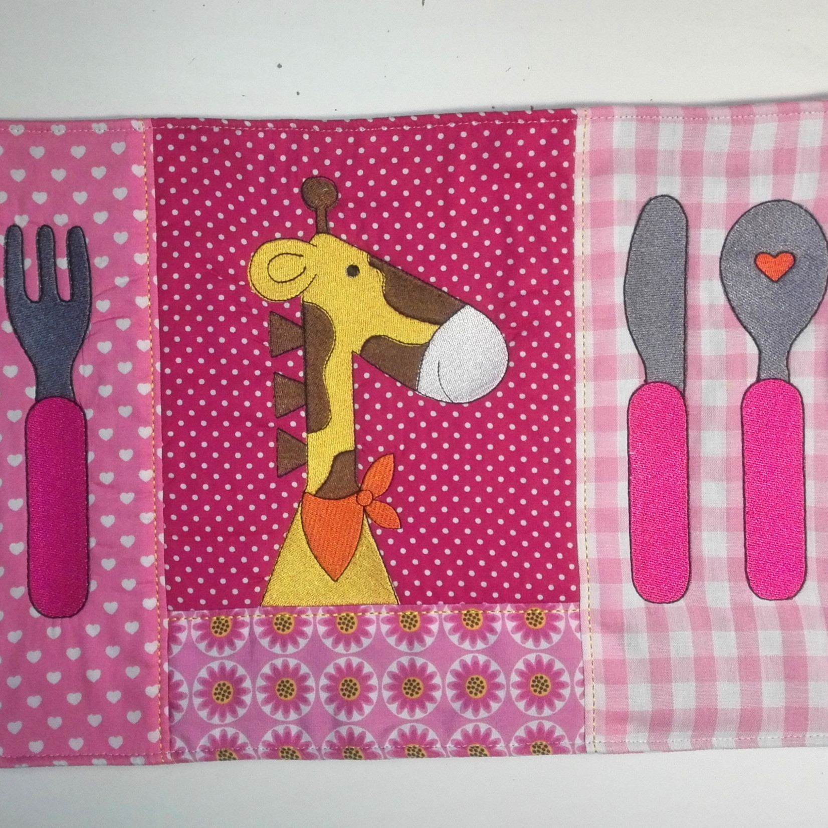 Kinderplacemat roze