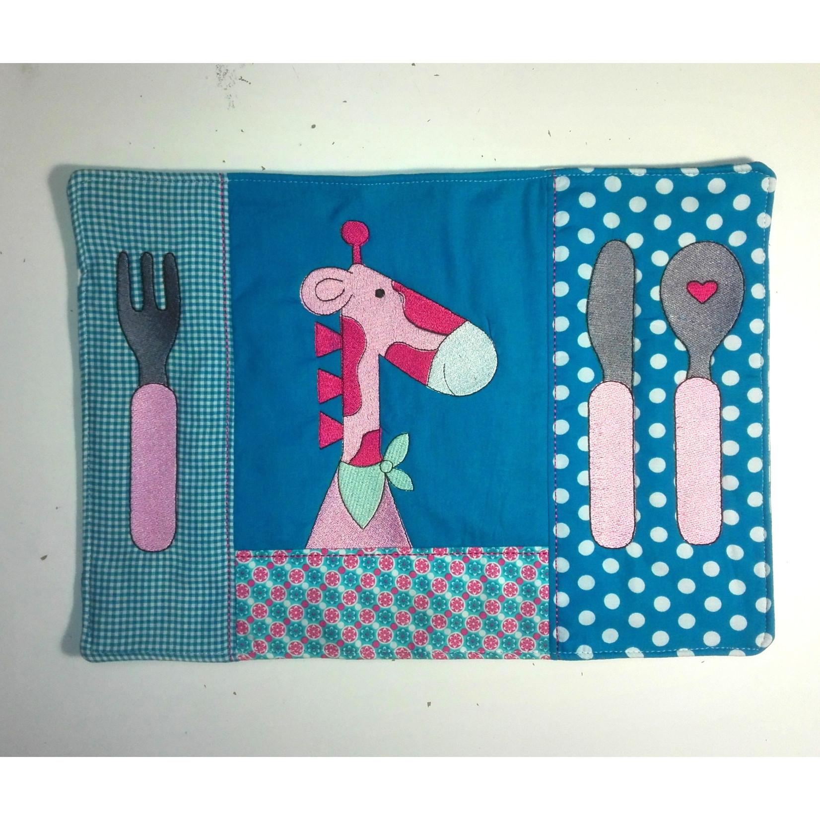 Kinderplacemat blauw