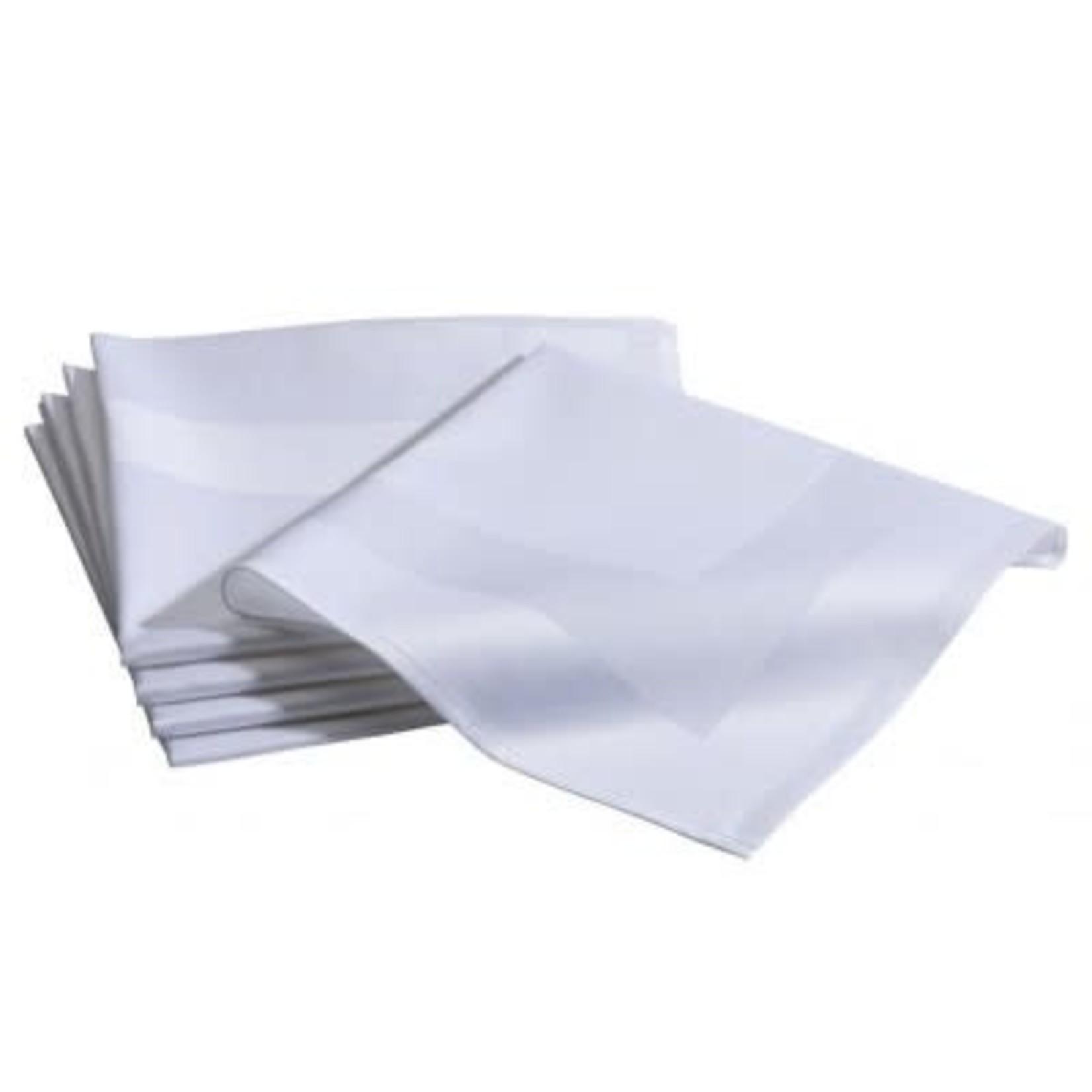 Witte servette met naamborduring