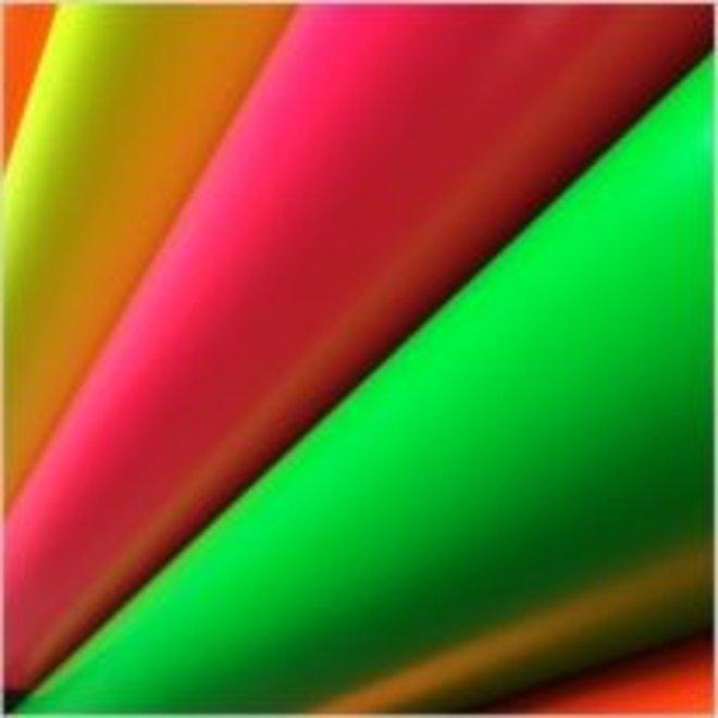 Fluo vinyl - 61cm hoog / 30cm fluo groen