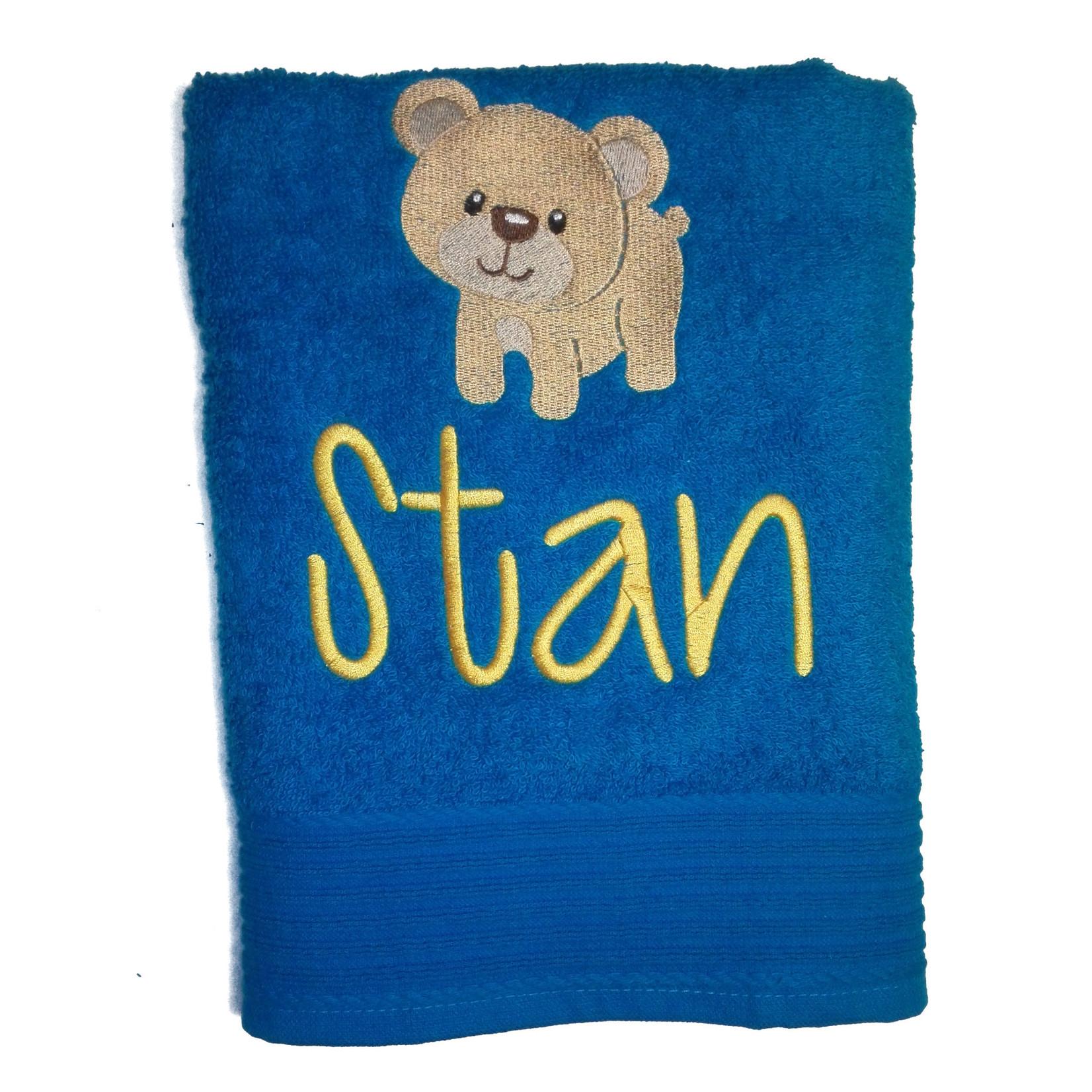 The One towelling Handdoek met geborduurde naam en figuurtje