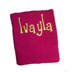 The One towelling Handdoek met geborduurde naam