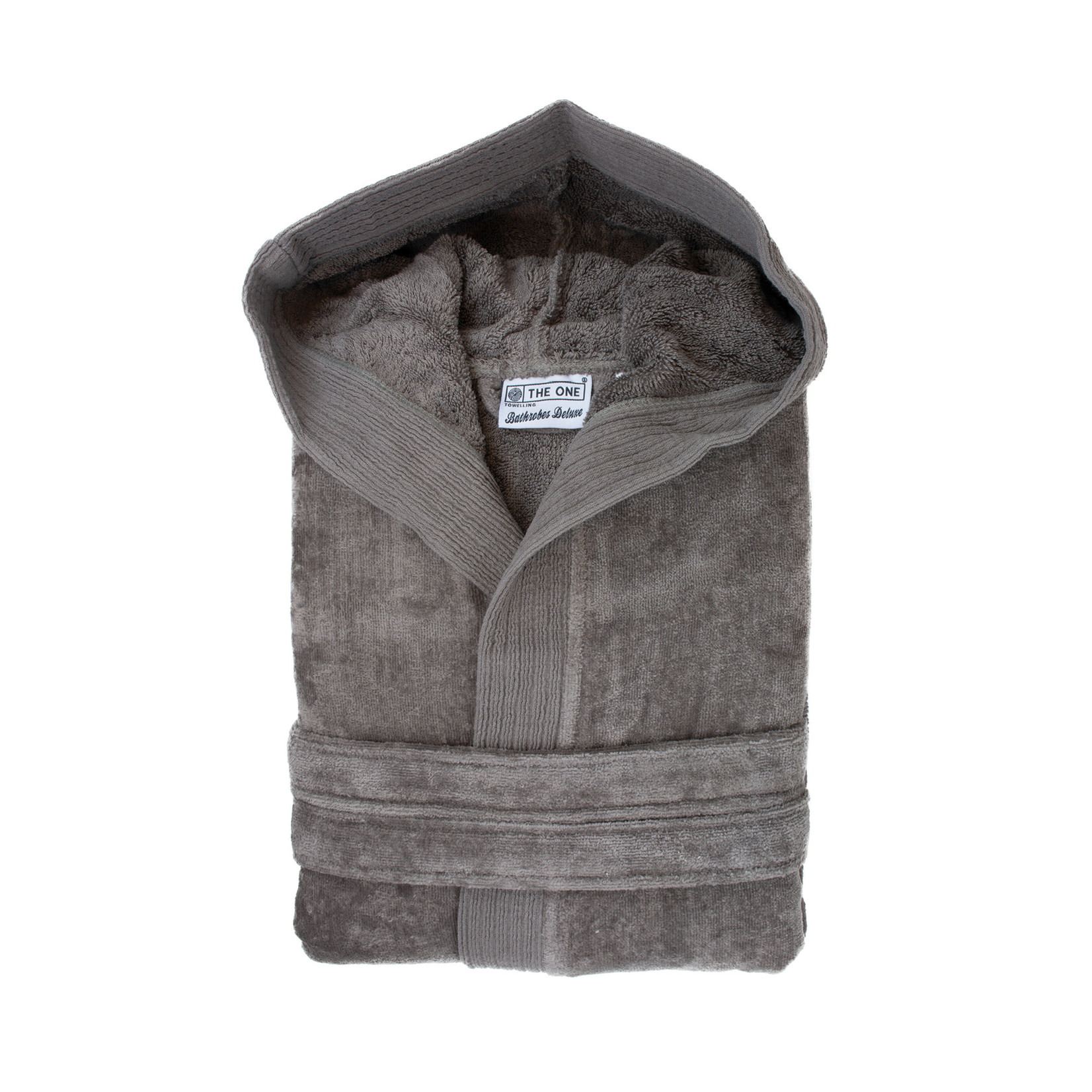 The One towelling Badjas velours TAUPE