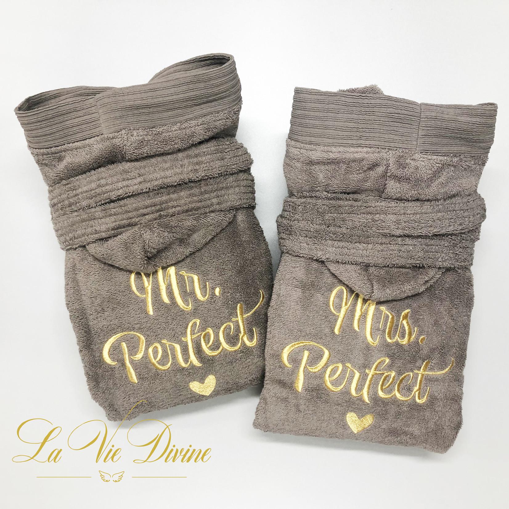 The One towelling Badjassenset Mr. & Mrs. Perfect