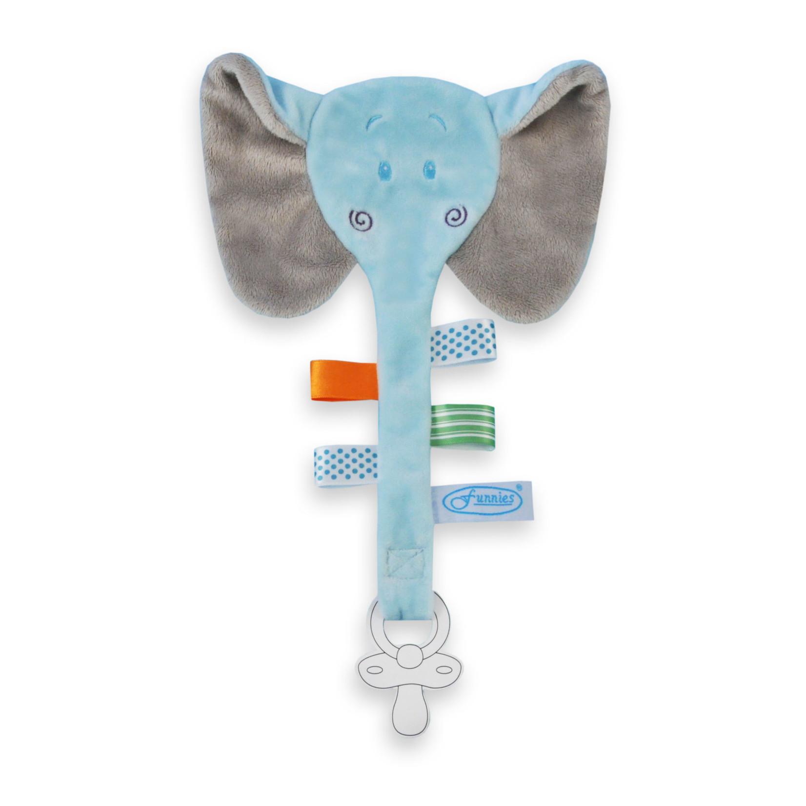 Funnies tutlint olifant blauw met naam