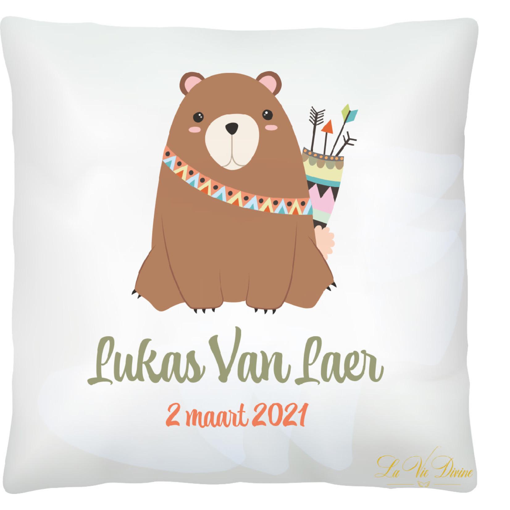 La Vie Divine Geboortekussen beer