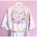 La Vie Divine Satijnen kamerjas 'Bride to be' roze