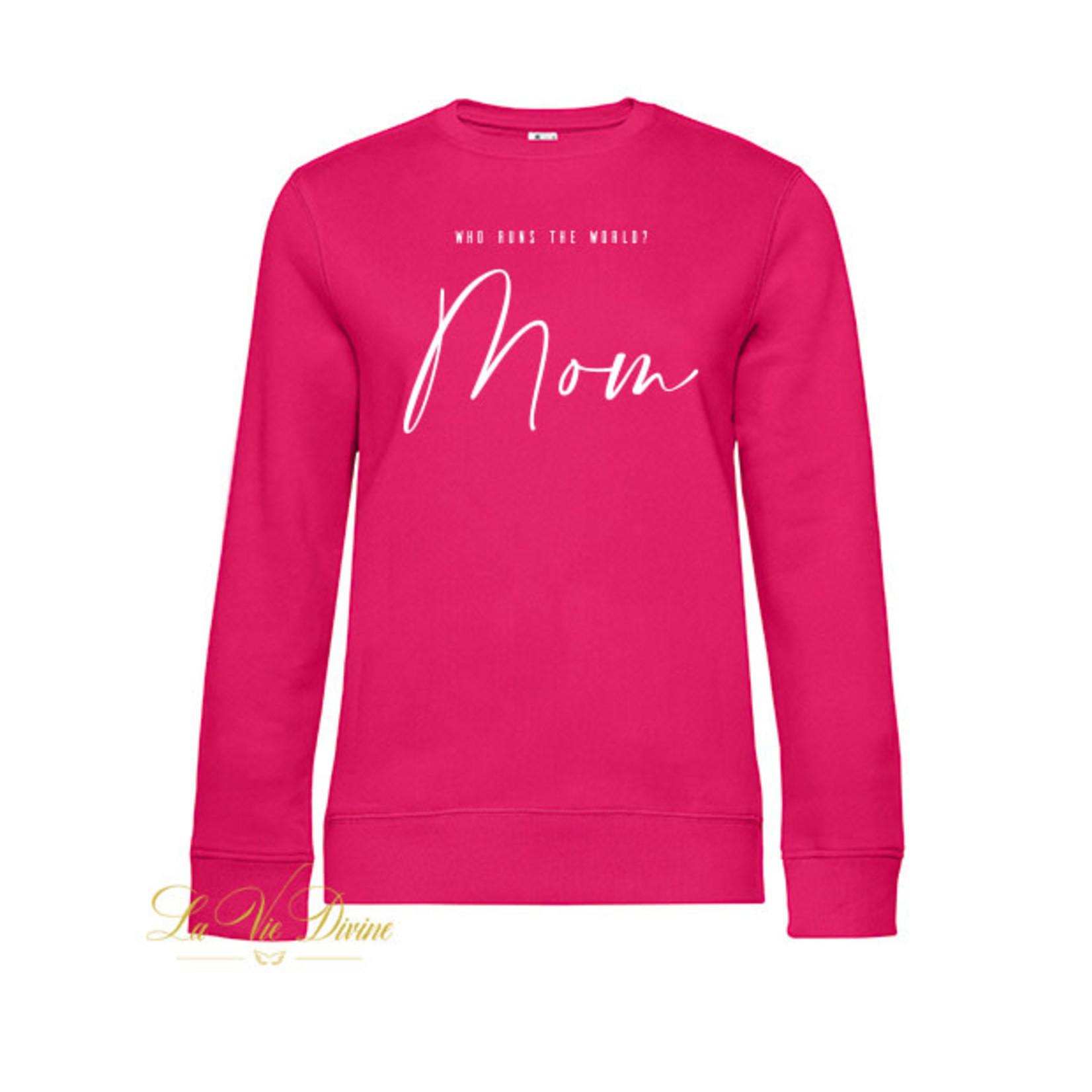 Damessweater 'who runs the world'
