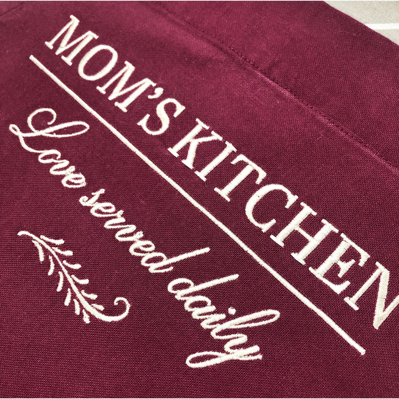 La Vie Divine Canvas keukenschort 'Mom's Kitchen'