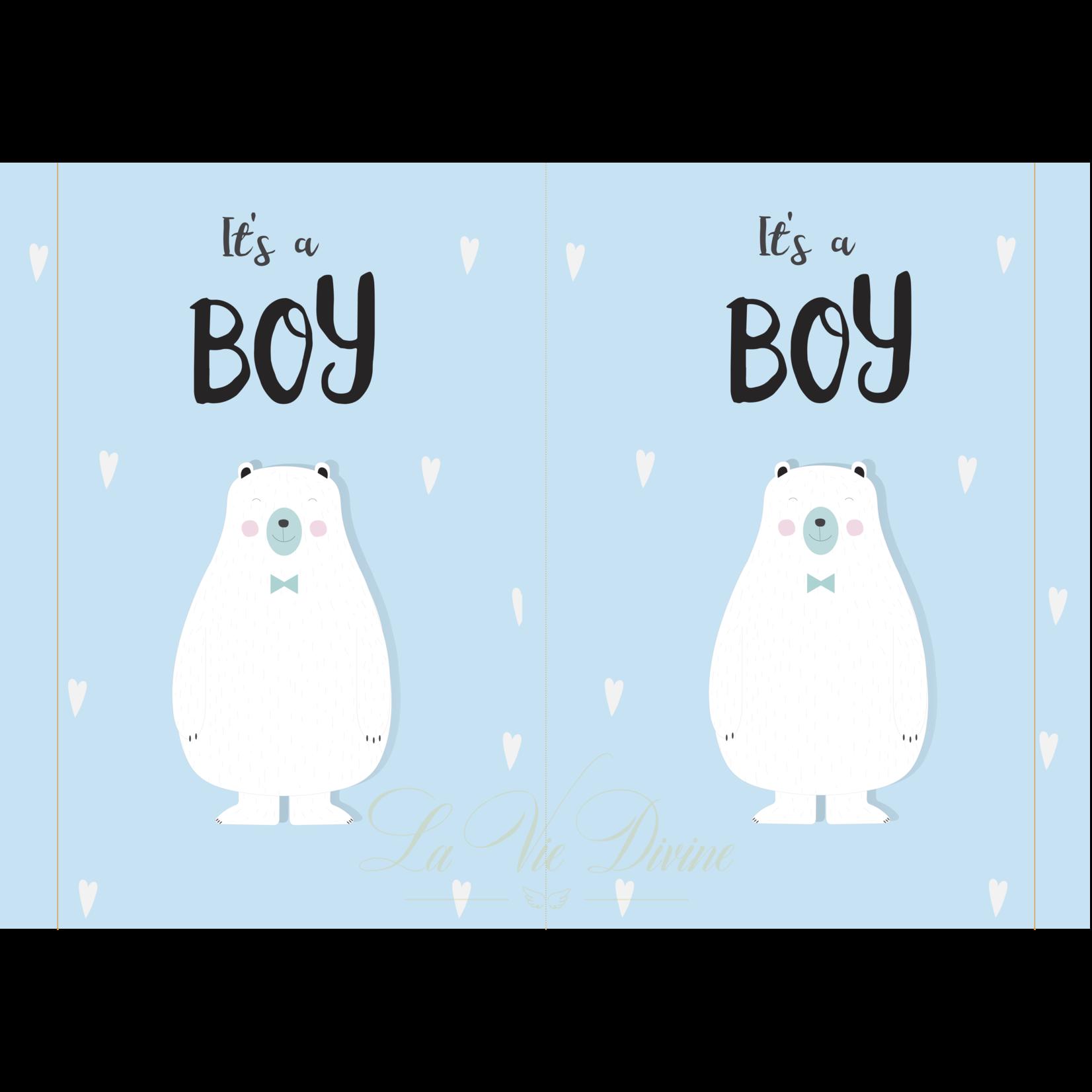 La Vie Divine Geboortebord 'it's a boy'