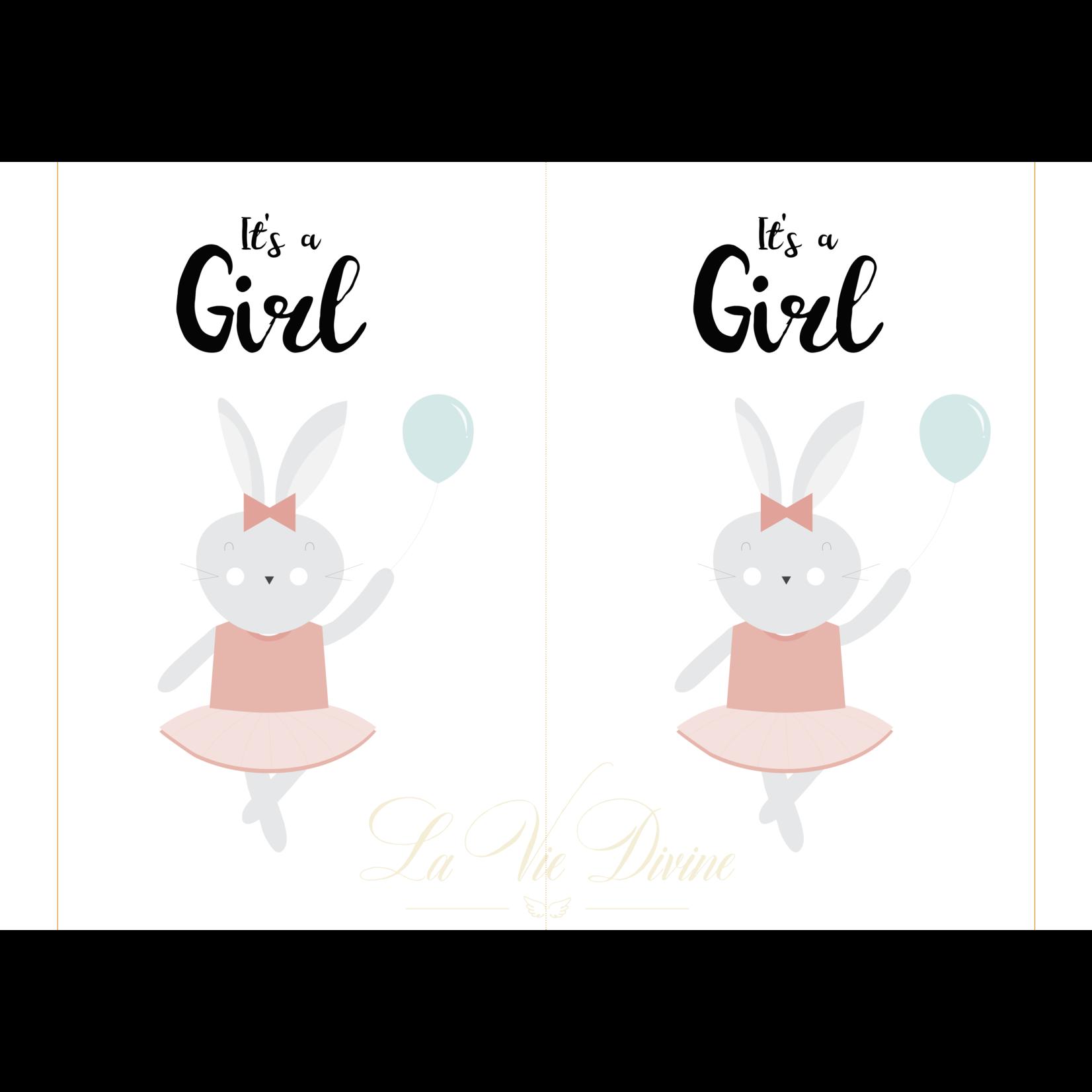 La Vie Divine Geboortebord 'it's a girl'