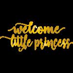 La Vie Divine Muursticker 'Welcome little princess'