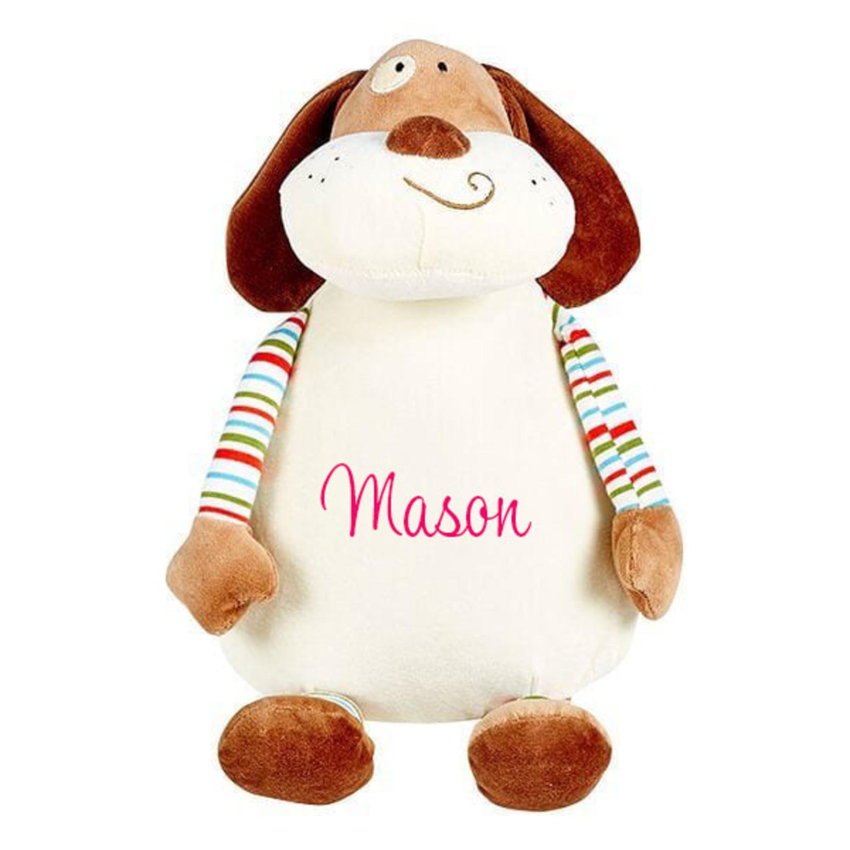 Knuffel 'Pastel' hondje met naam