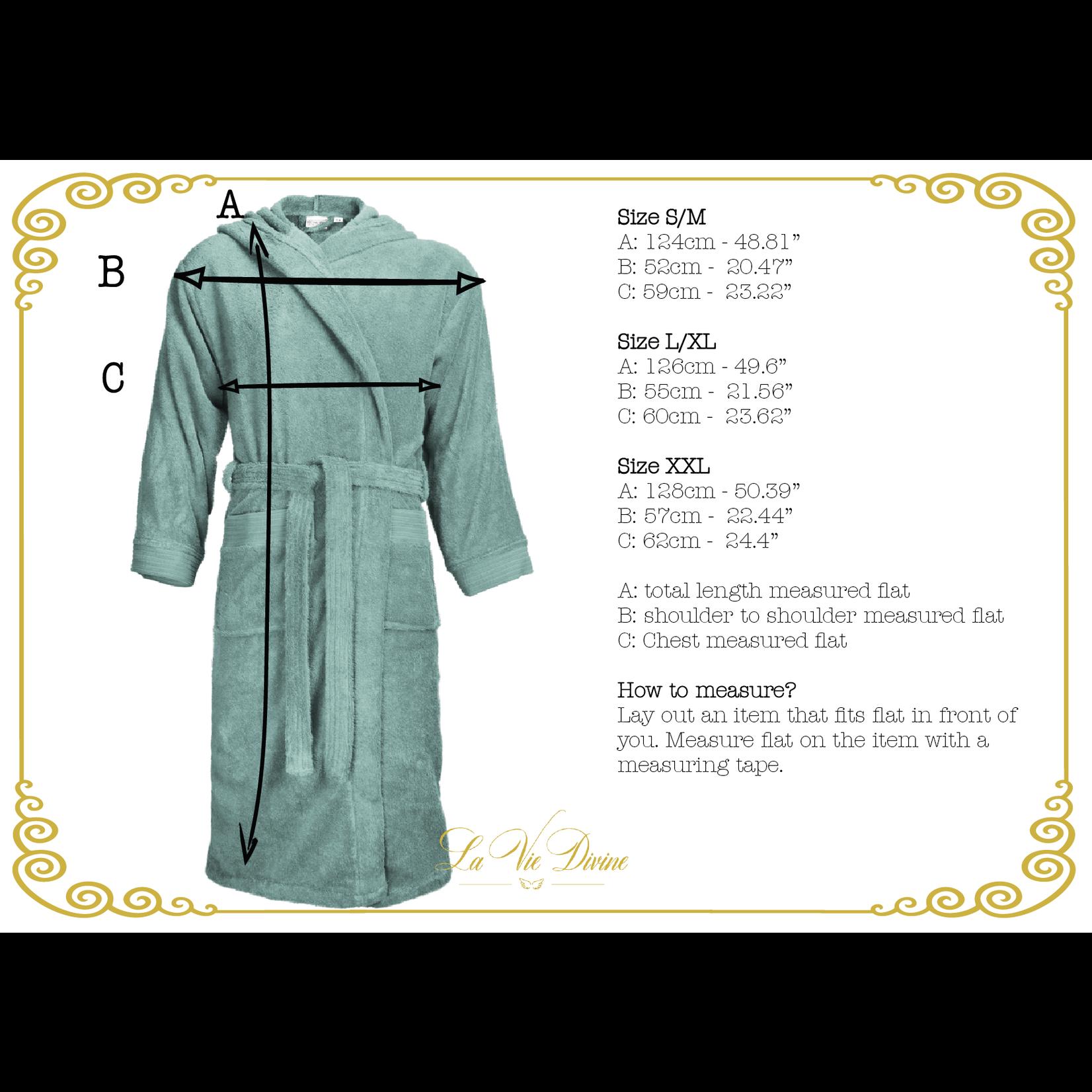 The One towelling badjas classic met kap
