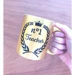 Gouden koffiemok met print