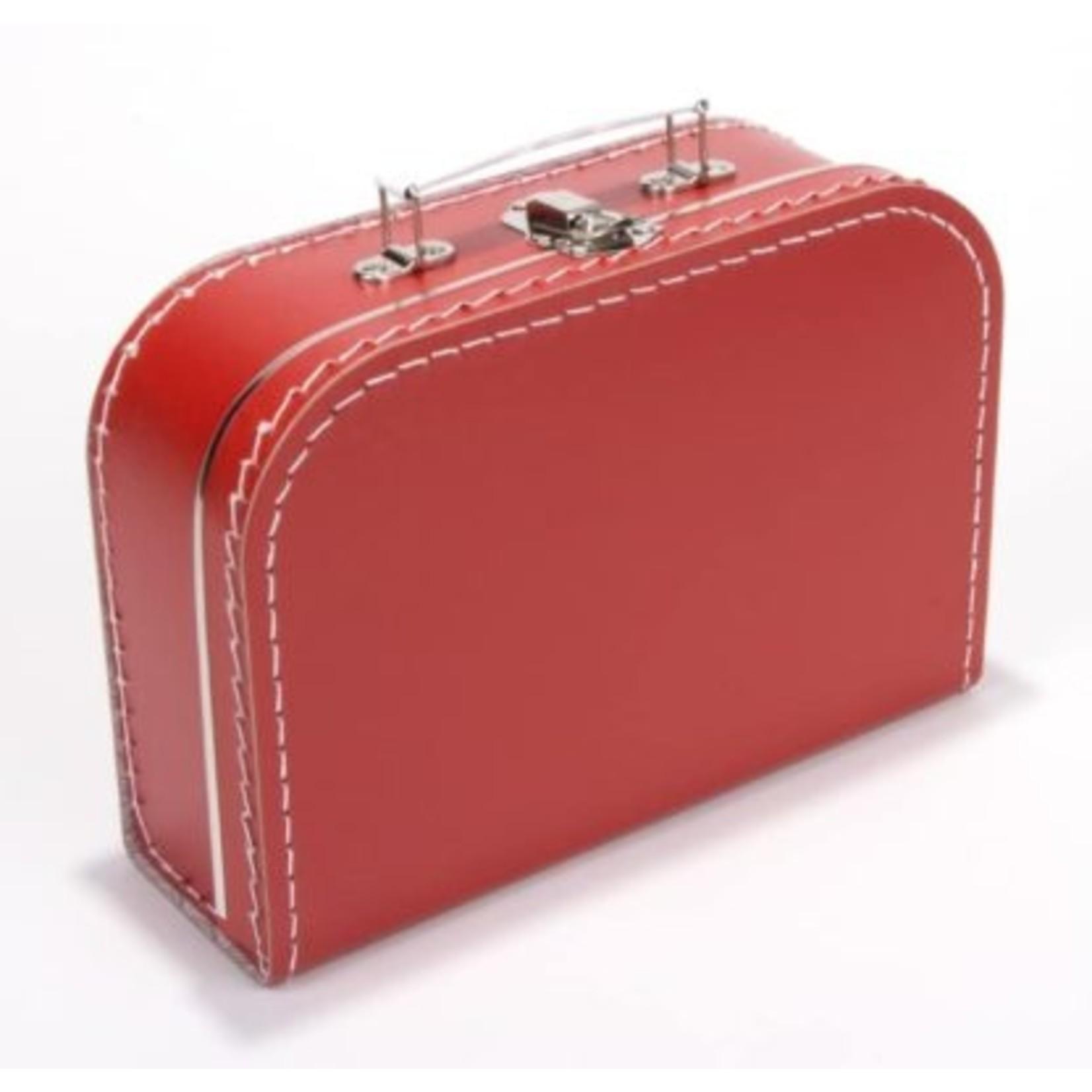 Kinderkoffertje 25cm met naam en/of figuurtje rood