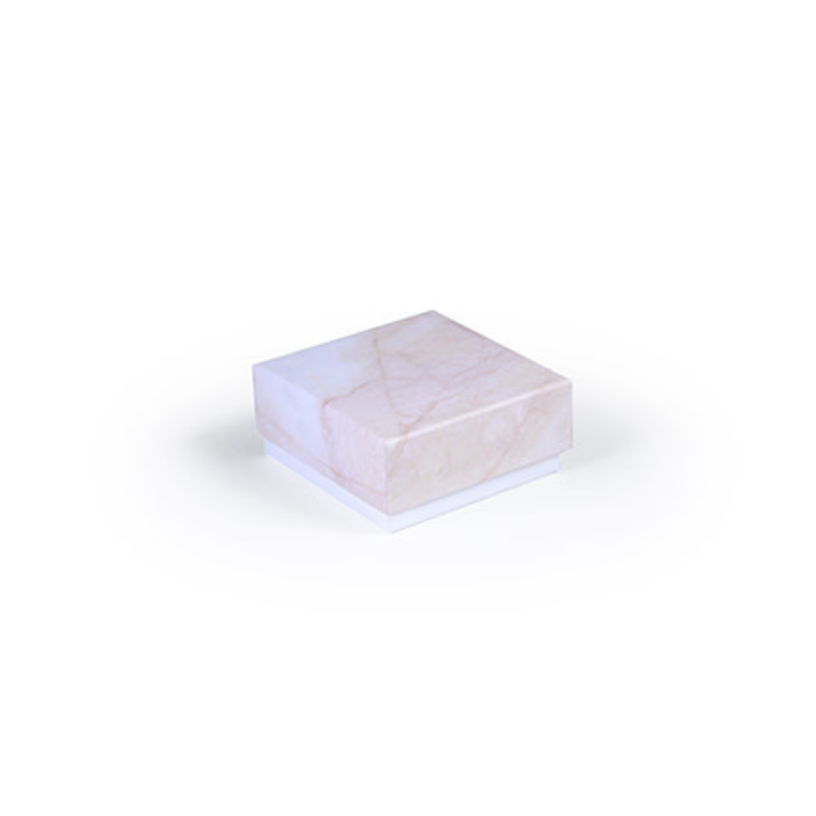 BB collections Luxe box marmer 6.5x6.5x3cm roze