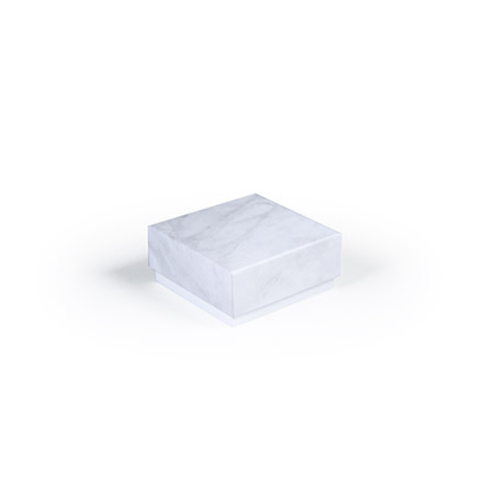 BB collections Luxe box marmer 6.5x6.5x3cm grijs
